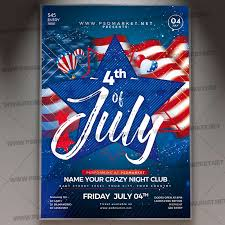 4th Of July Party Flyer Psd Template