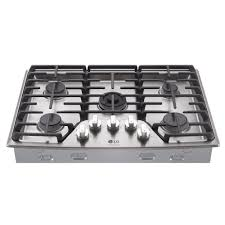 30 5 burner gas cooktop. Contemporary Gas LG STUDIO 30 In Gas Cooktop In Stainless Steel With 5 Burners Including  Ultraheat Dual And Burner I
