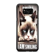 grumpy cat i am smiling. Contemporary Cat Grumpy Cat I Am Smiling For Samsung Galaxy S8 Plus To A