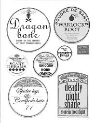 Papercraft Apothecary Jar Labels Tags Ideas