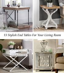 stylish end tables for your living room