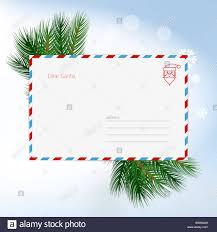 Blank Christmas List Dear Santa Christmas Letter In Envelope Christmas