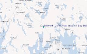 Ellsworth Union River Blue Hill Bay Maine Tide Station