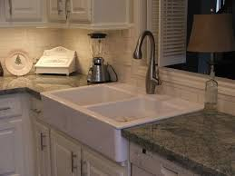 kitchen sinks for granite countertops. Interesting Granite Countertop With Ikea Farmhouse Sink And Under Cabinet Lighting For Your Kitchen Design Sinks Countertops