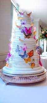 Butterfly Wedding Cake De Vere Wotton House Amazing Grace Cakes