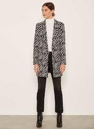 zebra jacquard coat 169 00