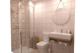 Veja como usar cores diferentes, marcenaria inteligente, azulejos e revestimentos personalizados para decorar banheiros e lavabos. Reforma Bano Pequeno Cliente Jose Antonio Classico Banheiro Por Comercial Cortazar Disenos Personalizados Tilelook