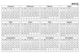 Calendar Template Printable 2015 Yearly Calendar Template 2015 Rome Fontanacountryinn Com