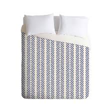 nautical colors greatly enhance the appeal of this sequential chevron duvet cover designed for simplicity