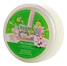 <b>Крем для лица</b> и тела с экстрактом молока и огурца <b>Natural</b> Skin ...