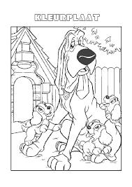 Lady En De Vagebond De Pups Bij Hun Vriend Lady En De Vagebond