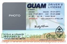 Psd Drivers Fake Guam - Gu License