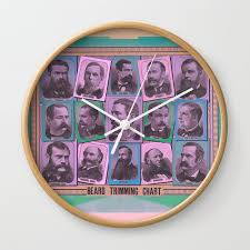 A Beard Trimming Chart Wall Clock By Ladyruthless