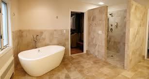 Luxury Open Shower Bathroom Design in Home Remodel Ideas With Open Shower  Bathroom Design