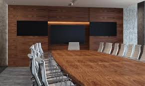 contact eborcraft for more information about wood veneer wall panelling with optional audio visual equipment