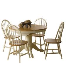 cotswold round extending dining table 4 windsor chairs