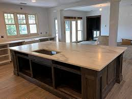 custom quartz countertops and island top fabricated and installed in west bend wisconsin