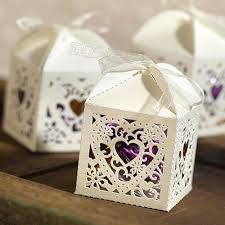Decorative Heart Ivory Favor Boxes