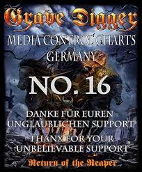 Charts Germany Media Control Grave Digger Hit The German Charts At Number 16 Metal