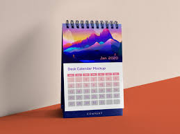 Product Calendar Design Free Vertical Table Desk Calendar Mockup Psd Good Mockups