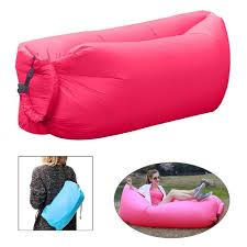 inflatable furniture. Banana Bed Air Lounger Fast Inflatable Bag Sofa Couch Outdoor Beach Camping Hammock Lazy Furniture