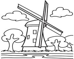 farm windmill drawing. Coloring Trend Thumbnail Size Windmill Drawing Farm Page