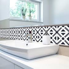 fs 196 8 inches pvc waterproof self adhesive 3d black white tile wallpaper roll