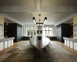 contemporary office interior. executive meeting office space with contemporary oval shaped desk interior o