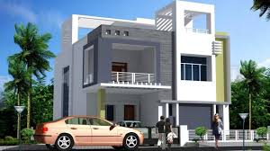 modern double floor house front elevation plans and designs housing loans house plans india