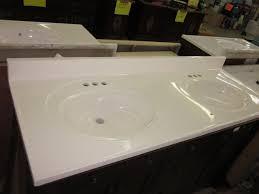 61 x 22 double bowl standard white cultured marble bathroom vanity sink tops