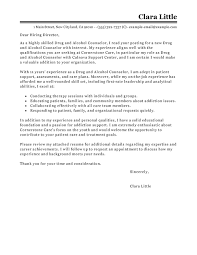 Amazing Drug And Alcohol Counselor Cover Letter Examples Templates