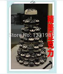New Tier 7 Amerika Pesawat Acrylic Kue Dessert Buah Camilan Paket