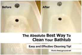 easiest way to clean dirty bathtub