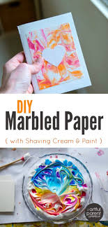 The best, easiest, and cheapest DIY marbled paper is done with shaving  cream marbling