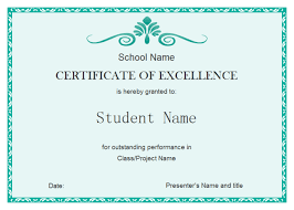 Award Of Excellence Certificate Template Student Excellence Certificate Free Student Excellence Certificate 33