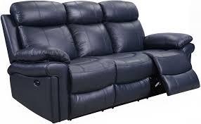 blue reclining sofa brilliant shae joplin leather power from italia for 6