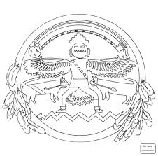 Small Picture arts culture Aztec Sun Stone coloring pages for kids colorpages7com