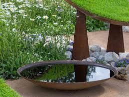 corten steel waterbowl unique