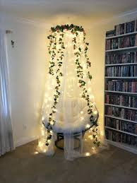 Flower Lights For Bedroom Our Fairy Fort Reading Nook We Made With A Pier 1  Chair . Flower Lights For Bedroom ...