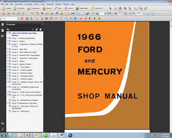 fordmanuals com 1966 ford and mercury shop manual ebook 1966 ford and mercury car shop manual on cd rom or ebook