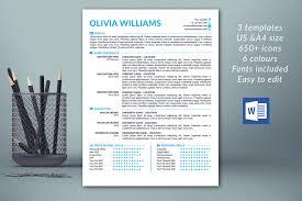 Modern Resume Design Modern Resume Template Cover Letter Template