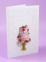 3d Cake Card With Punched Flowers Craft Paper Crafts Birthday