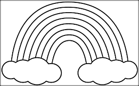 Rainbow Coloring Pages With Clouds And Sun Color Zini