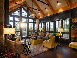 Nice Decor In Living Room Comfortable Rustic Living Room With Warm Situation Traba Homes