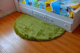half moon 5 faux fur gy area rug olive green fur 5