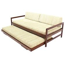 Mid Century Twin Size Daybed Frame With Trundle Design Decofurnish ...