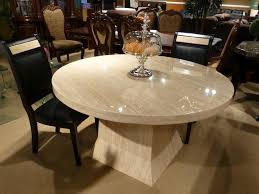 clean white marble round dining table