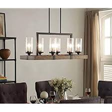 modern wood and metal light fixture barquero 27 wide dark 6 double glass chandelier vineyard lighting up letter wall vanity flush mount orb dining bookcase