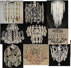 chandelier style chrome acrylic crystal pendant light shades