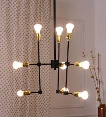 bandra flea market black and gold steel chandelier